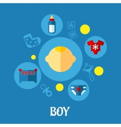 Little Boy Concept Graphic Design vector image