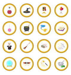 Magic cartoon icon circle vector