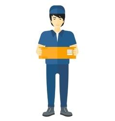 Man delivering box vector image