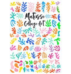 Matisse style collage art graphic design vector