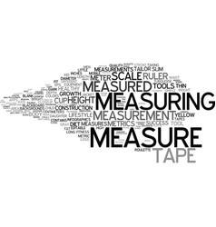 measured word cloud concept vector image
