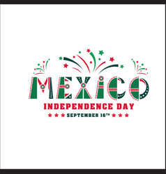 Mexico independence day card national holiday vector