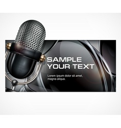 Microphone on black vector