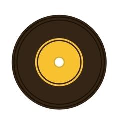 music vinyl retro icon vector image