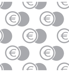 New Euro coin seamless pattern vector image