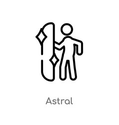 Outline astral icon isolated black simple line vector