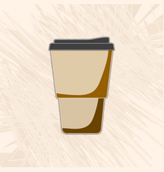 Paper cup of coffee on an abstract background vector