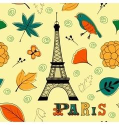 Paris autumn seamless pattern vector