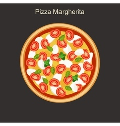 Pizza margherita vector image