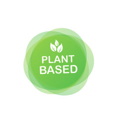 Plant based label flat simple icon healthy food vector