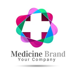 Plus sign medical healthcare logo template design vector
