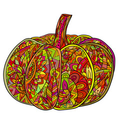 pop art doodle of pumpkin with a boho vector image