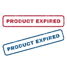 Product Expired Rubber Stamps vector image