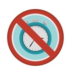 Prohibited sign chronometer watch isolated icon vector