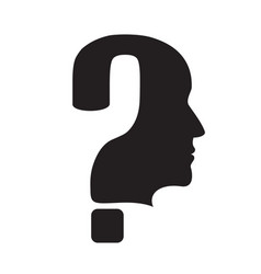 question mark silhouette vector image