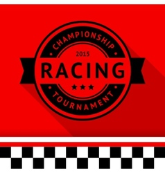 Racing stamp-15 vector image