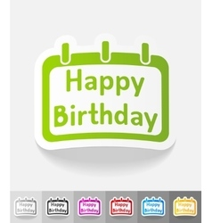 realistic design element Happy Birthday vector image