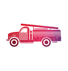Retro fire truck on a white background vector