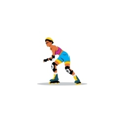 Roller skating girl sign vector image