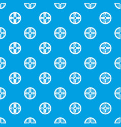 Round protective shield pattern seamless blue vector