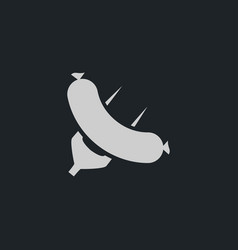 sausage icon simple vector image