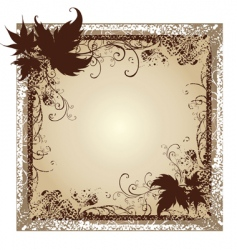 Set of black frames with autumn leafs vector