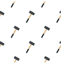 Sledgehammer pattern flat vector
