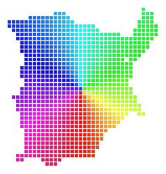 Spectral pixel koh samui map vector