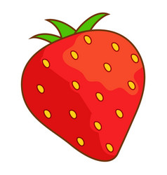 strawberry icon cartoon style vector image