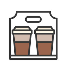 Take away coffee coffee related filled style vector