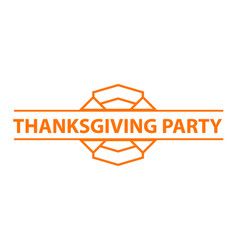 thanksgiving party logo simple style vector image