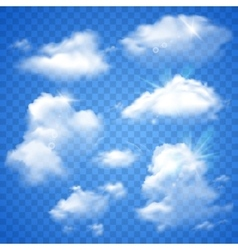 Transparent Clouds On Blue vector image