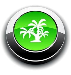 Tropical 3d round button vector