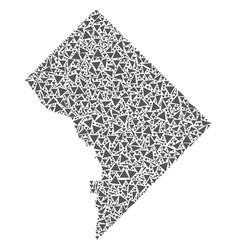 Washington dc map of triangles vector