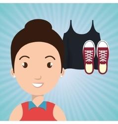 Woman clothes closet vector