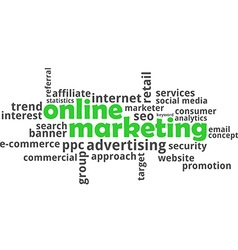 Word cloud online marketing vector
