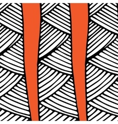 abstract african pattern orange and black vector image