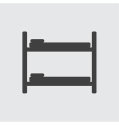 Bunk bed icon vector image vector image