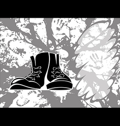 grungy shoes vector image