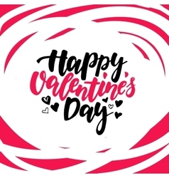 Happy Valentine s Day lettering Isolated vector image vector image