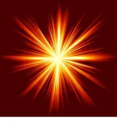 light burst fireworks lens vector image vector image
