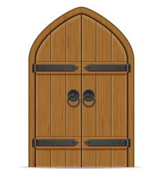 old wooden door vector image