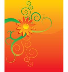 orange flower background vector image
