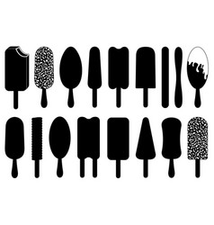 set of different ice cream lolly vector image