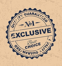 Set product quality stamps vector image vector image