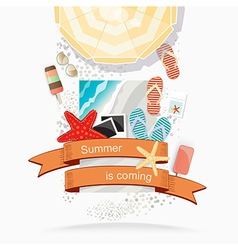 Summer beach vector image vector image
