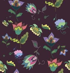 Beautiful dark floral seamless pattern vector