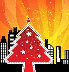City celebrations christmas vector image vector image