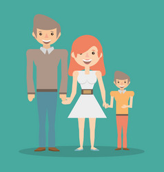 family smiling together relation vector image vector image