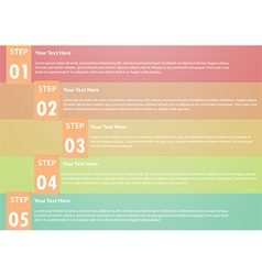 Five step infographics background vector image